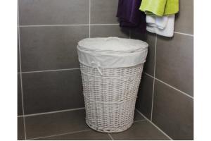 cesto ropa sucia mimbre blanco