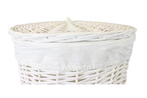 cesto ropa mimbre blanco