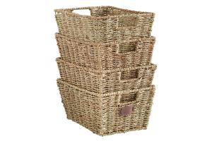 cesta mimbre con tapa